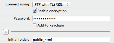 Mac Fetch, FTP with TLS/SSL